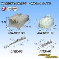 住友電装 矢崎総業 090型 MT(090型I) 非防水 6極 カプラー・端子セット