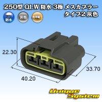 古河電工 250型 QLWシリーズ 防水 3極 メスカプラー タイプ2 灰色
