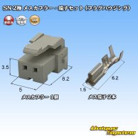 JAM 日本オートマチックマシン SN 2極 メスカプラー・端子セット (プラグハウジング)