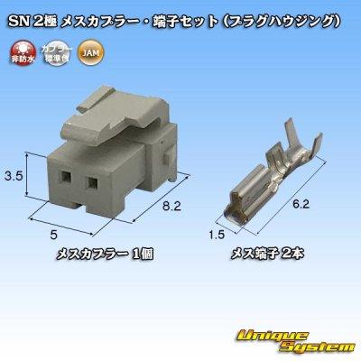 画像1: JAM 日本オートマチックマシン SN 2極 メスカプラー・端子セット (プラグハウジング)