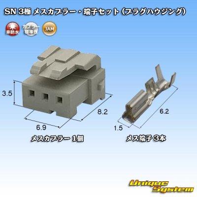 画像1: JAM 日本オートマチックマシン SN 3極 メスカプラー・端子セット (プラグハウジング)