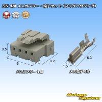 JAM 日本オートマチックマシン SN 4極 メスカプラー・端子セット (プラグハウジング)