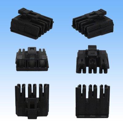 画像2: 住友電装 090型 LPSCT 非防水 メス 3極 メスカプラー・端子セット 黒色