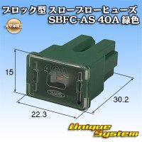 太平洋精工 ブロック型 スローブローヒューズ SBFC-AS 40A 緑色 3047