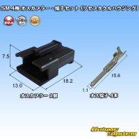 JST 日本圧着端子製造 SM 4極 オスカプラー・端子セット (リセプタクルハウジング)