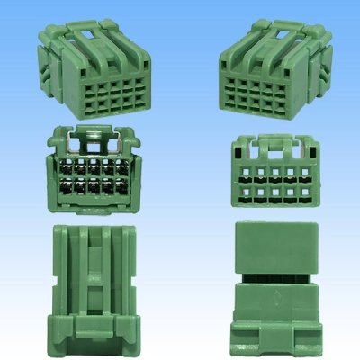 画像3: 住友電装 025型 HE 10極 メスカプラー・端子セット 緑色
