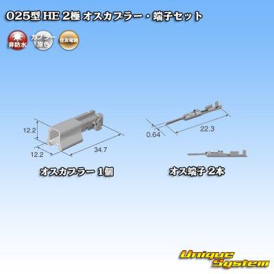 画像4: 住友電装 025型 HE 2極 オスカプラー・端子セット