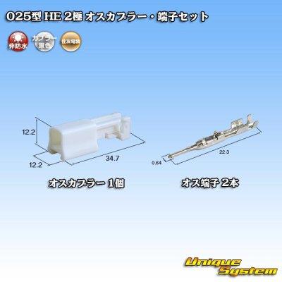 画像1: 住友電装 025型 HE 2極 オスカプラー・端子セット