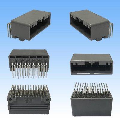 画像2: 日本航空電子JAE 025型 MX34 28極 カプラー・端子セット (オス側PCB)