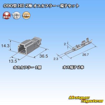 画像4: 住友電装 090型 HD 2極 オスカプラー・端子セット