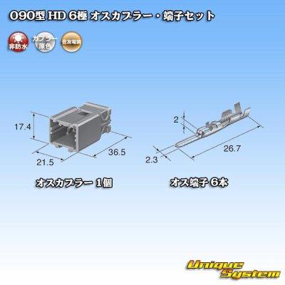 画像4: 住友電装 090型 HD 6極 オスカプラー・端子セット