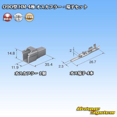 画像4: 住友電装 090型 HM 4極 オスカプラー・端子セット