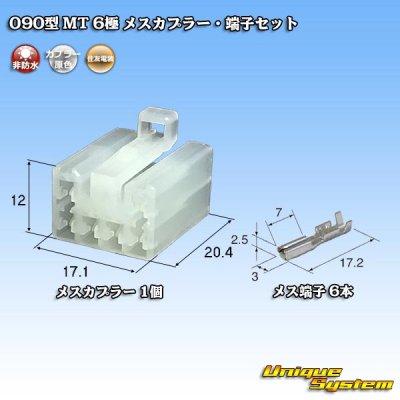 画像1: 住友電装 090型 MT 6極 メスカプラー・端子セット