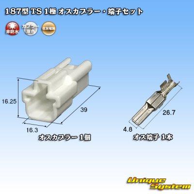 画像1: 住友電装 187型 TS 1極 オスカプラー・端子セット