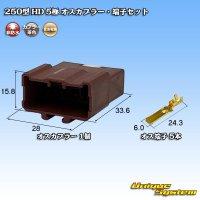 住友電装 250型 HD 非防水 5極 オスカプラー・端子セット