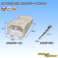 タイコエレクトロニクス AMP 025型I 12極 オスカプラー・端子セット