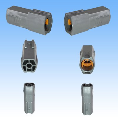 画像2: 住友電装 090型 DL 防水 1極 オスカプラー・端子セット