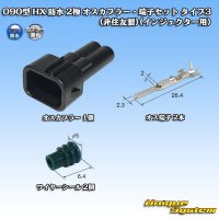 090型 HX 防水 2極 オスカプラー・端子セット タイプ3(非住友製)(インジェクター用)