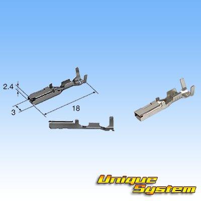画像3: 住友電装 090型 HX 防水 2極 メスカプラー・端子セット タイプ1 黒色 リテーナー付属