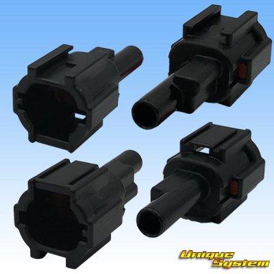 画像2: 住友電装 090型 RS 防水 1極 オスカプラー・端子セット 黒色  リテーナー付属