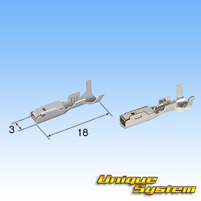 画像3: 住友電装 090型 RS 防水 3極 メスカプラー・端子セット リテーナー付属 茶色 タイプ1(オス側無し)