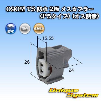 画像1: 住友電装 090型 TS 防水 2極 メスカプラー(P5タイプ) (オス側無)