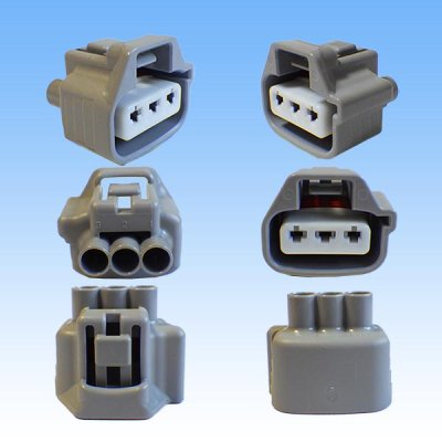 画像2: 住友電装 090型 TS 防水 3極 メスカプラー・端子セット タイプ3