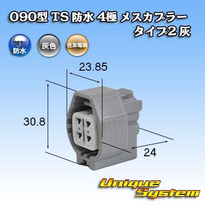 画像1: 住友電装 090型 TS 防水 4極 メスカプラー タイプ2 灰
