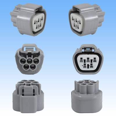 画像3: 住友電装 090型 TS 防水 5極 カプラー・端子セット