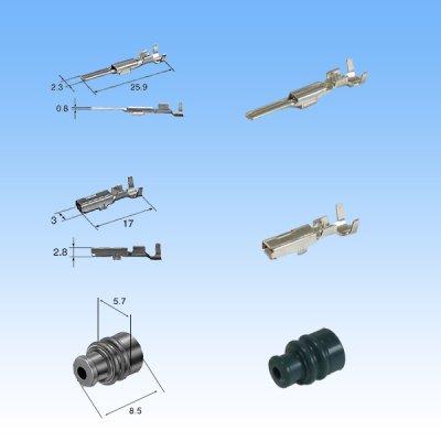 画像4: 住友電装 090型 TS 防水 3極 カプラー・端子セット タイプ3
