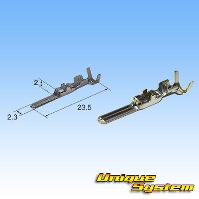 画像3: 090型 62シリーズタイプE 防水 5極 オスカプラー タイプ2・端子セット (P5) 灰色 (非住友製)