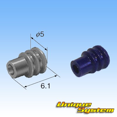 画像4: 090型 62シリーズタイプE 防水 5極 オスカプラー タイプ2・端子セット (P5) 灰色 (非住友製)