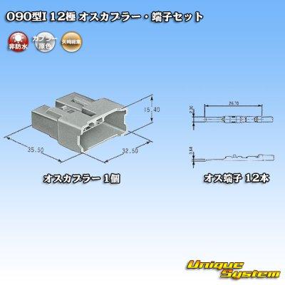 画像5: 矢崎総業 090型I 12極 オスカプラー・端子セット