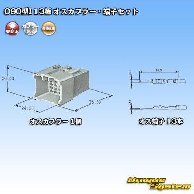 画像5: 矢崎総業090型I 13極 オスカプラー・端子セット