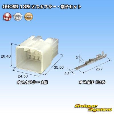 画像1: 矢崎総業090型I 13極 オスカプラー・端子セット