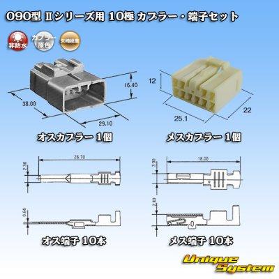 画像5: 矢崎総業 090型II 10極 カプラー・端子セット