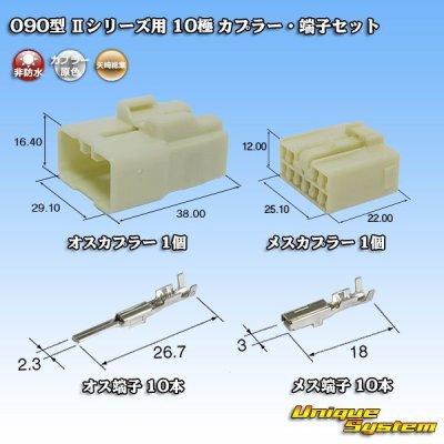 画像1: 矢崎総業 090型II 10極 カプラー・端子セット