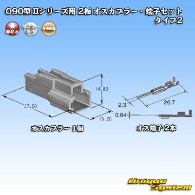 画像4: 矢崎総業 090型II 2極 オスカプラー・端子セット タイプ2