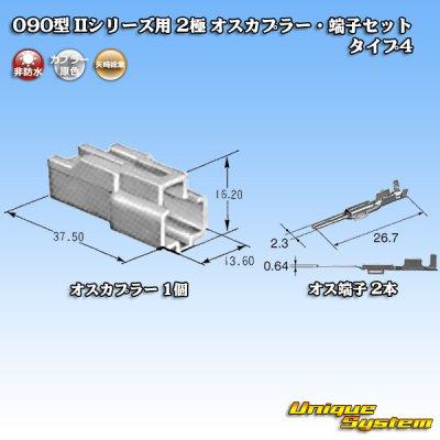 画像4: 矢崎総業 090型II 2極 オスカプラー・端子セット タイプ4