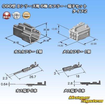 画像5: 矢崎総業 090型II 6極 カプラー・端子セット タイプ2