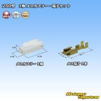 矢崎総業 250型 CN(A) 非防水 1極 メスカプラー・端子セット