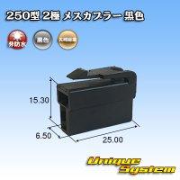 矢崎総業 250型 2極 メスカプラー 黒色