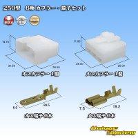 矢崎総業 250型 CN(A) 非防水 6極 カプラー・端子セット