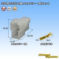 矢崎総業 250型 CN(B) 非防水 2極 オスカプラー・端子セット