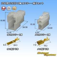 矢崎総業 250型 CN(B) 非防水 2極 カプラー・端子セット