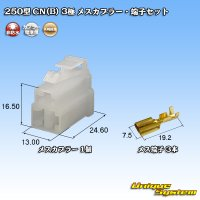 矢崎総業 250型 CN(B) 非防水 3極 メスカプラー・端子セット