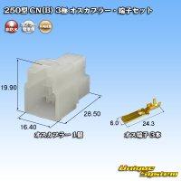 矢崎総業 250型 CN(B) 非防水 3極 オスカプラー・端子セット